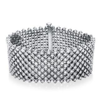 18 kt fehérarany karkötő 407 gyémánttal 5C007W8-1