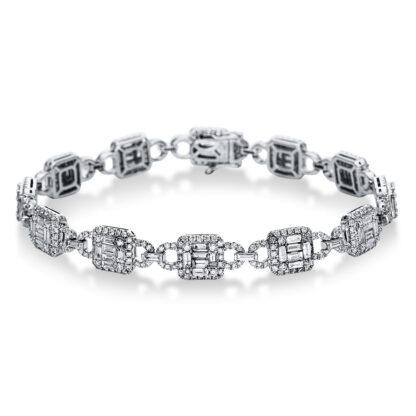 18 kt fehérarany karkötő 516 gyémánttal 5C005W8-1