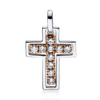 18 kt  pendant with 10 diamonds 3D737WR8-1