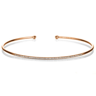 18 kt red gold bangle with 53 diamonds 6A266R8-1