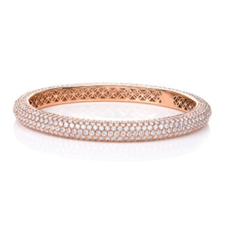 18 kt red gold bangle with 684 diamonds 6A055R8-7