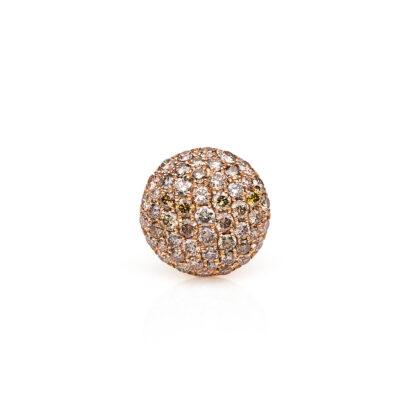 18 kt vörös arany medál 55 gyémánttal 3B508R8-7