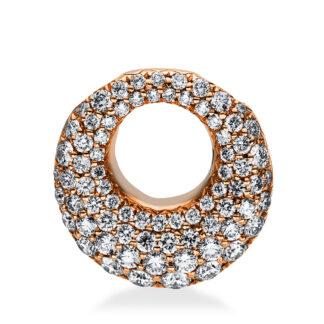 18 kt vörös arany medál 75 gyémánttal 3D755R8-1
