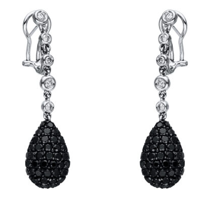 18 kt white gold earrings with 198 diamonds 2I787W8-1