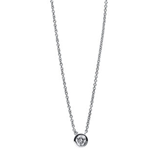 18 kt white gold necklace with 1 diamond 4E422W8-1