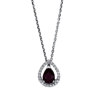 18 kt white gold necklace with 23 diamonds