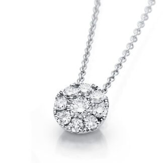 18 kt white gold necklace with 9 diamonds 4A238W8-2
