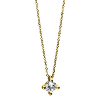 18 kt yellow gold necklace with 1 diamond 4D270G8-1