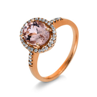 10 kt red gold color stone with 36 diamonds
