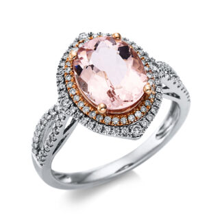 14 kt  color stone with 108 diamonds