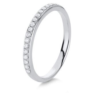 14 kt fehérarany félig köves eternity 17 gyémánttal 1A460W454-12