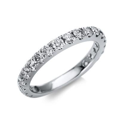 14 kt fehérarany félig köves eternity 19 gyémánttal 1U236W454-2