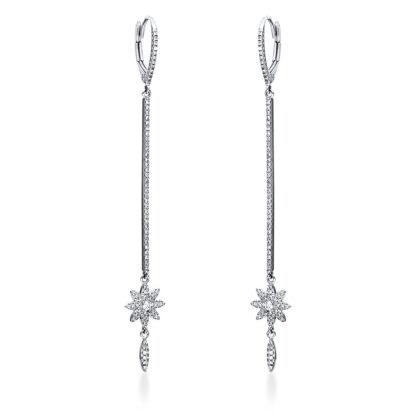 14 kt fehérarany fülbevaló 150 gyémánttal 2I938W4-1