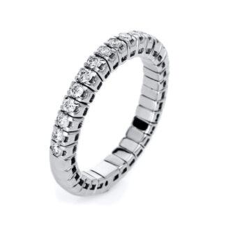 14 kt fehérarany körbe köves eternity 17 gyémánttal 1J210W455-1