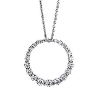 14 kt fehérarany medál 23 gyémánttal 3A720W4-1
