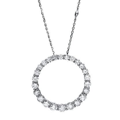 14 kt fehérarany nyaklánc 26 gyémánttal 4F432W4-1