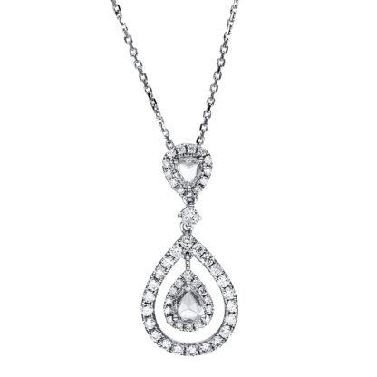 14 kt fehérarany nyaklánc 54 gyémánttal 4F519W4-1