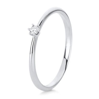 14 kt fehérarany szoliter 1 gyémánttal 1C476W455-6