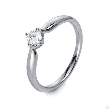 14 kt fehérarany szoliter 1 gyémánttal 1L116W455-1