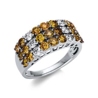 14 kt fehérarany több köves gyűrű 27 gyémánttal 1U225W454-1