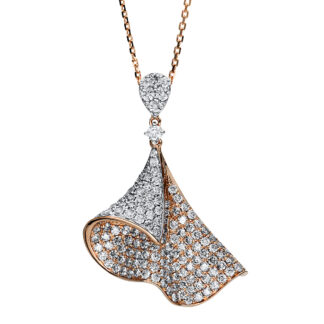 14 kt  necklace with 148 diamonds 4F187WR4-2