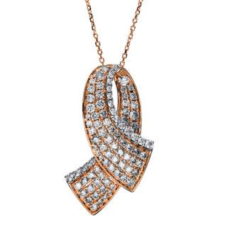 14 kt  necklace with 94 diamonds 4F518WR4-1