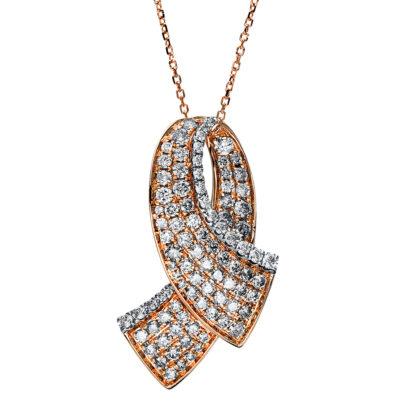 14 kt  nyaklánc 94 gyémánttal 4F518WR4-1