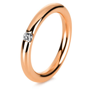 14 kt red gold solitaire with 1 diamond 1A043R452-1