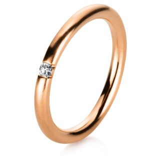 14 kt red gold solitaire with 1 diamond 1A062R455-2