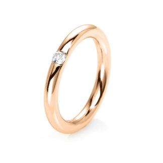 14 kt red gold solitaire with 1 diamond 1E479R453-1