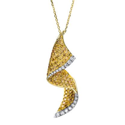14 kt V arany nyaklánc 111 gyémánttal 4F521G4-1