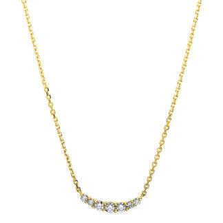 14 kt V arany nyaklánc 7 gyémánttal 4B155G4-1