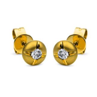 14 kt V arany steckeres 2 gyémánttal 2F507G4-1