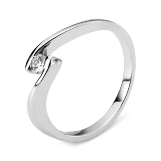 14 kt white gold solitaire with 1 diamond 1G437W454-1