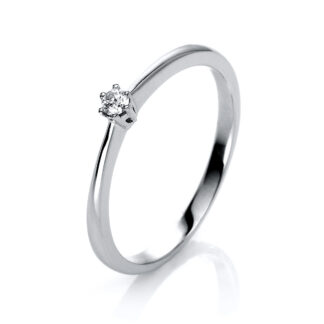 14 kt white gold solitaire with 1 diamond 1H578W453-1