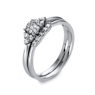 18 kt fehérarany  21 gyémánttal 1O624W853-1