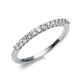 18 kt fehérarany félig köves eternity 13 gyémánttal 1T994W853-2