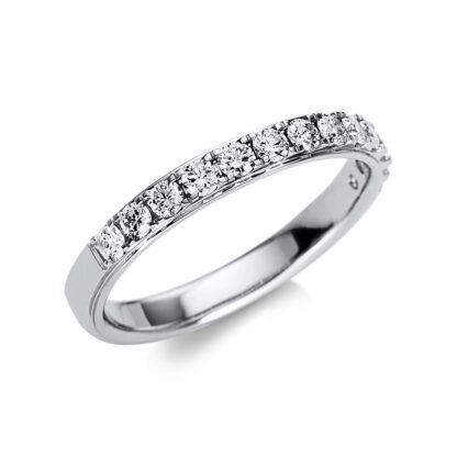 18 kt fehérarany félig köves eternity 13 gyémánttal 1U246W855-1
