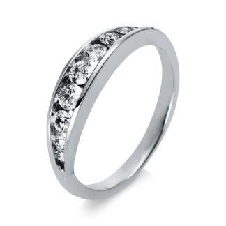 18 kt fehérarany félig köves eternity 9 gyémánttal 1P003W853-1