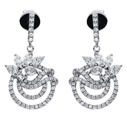 18 kt fehérarany fülbevaló 124 gyémánttal 2H875W8-1