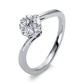 18 kt fehérarany illúzió 5 gyémánttal 1O011W852-2