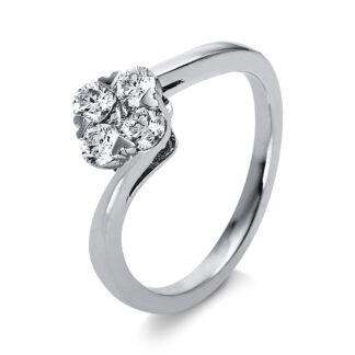 18 kt fehérarany illúzió 5 gyémánttal 1O012W852-2