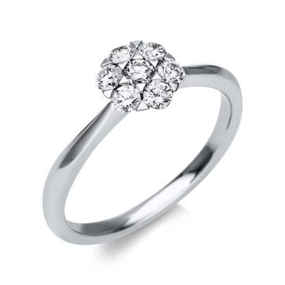 18 kt fehérarany illúzió 7 gyémánttal 1T817W854-2
