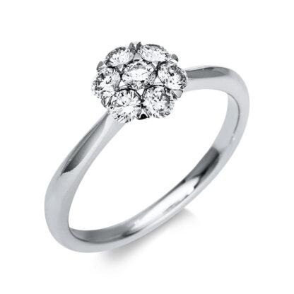 18 kt fehérarany illúzió 7 gyémánttal 1T818W854-1
