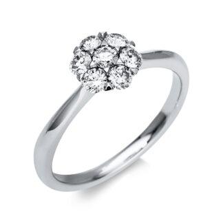 18 kt fehérarany illúzió 7 gyémánttal 1T818W854-2