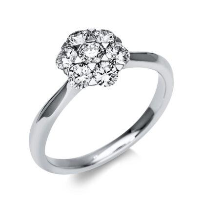 18 kt fehérarany illúzió 7 gyémánttal 1T819W854-1