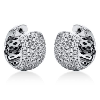 18 kt fehérarany karika és huggie 146 gyémánttal 2I970W8-1