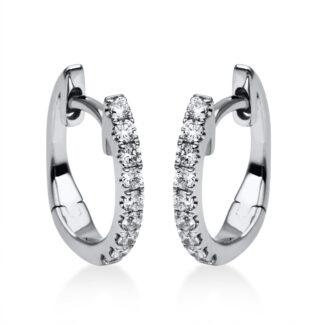 18 kt fehérarany karika és huggie 18 gyémánttal 2A391W8-18
