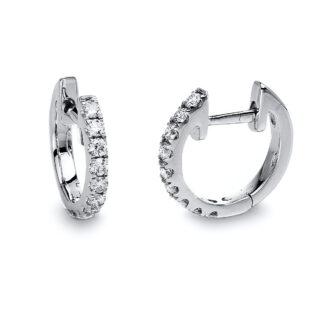 18 kt fehérarany karika és huggie 18 gyémánttal 2D786W8-5