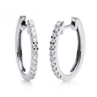 18 kt fehérarany karika és huggie 22 gyémánttal 2C424W8-5